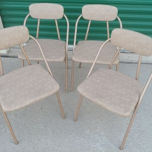 4 Vintage Costco Hamilton folding chairs MCM